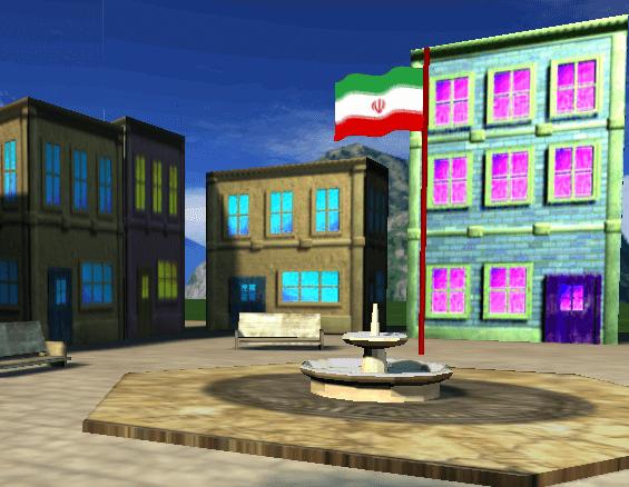 پروژه میله پرچم میدان در سی شارپ با opengl