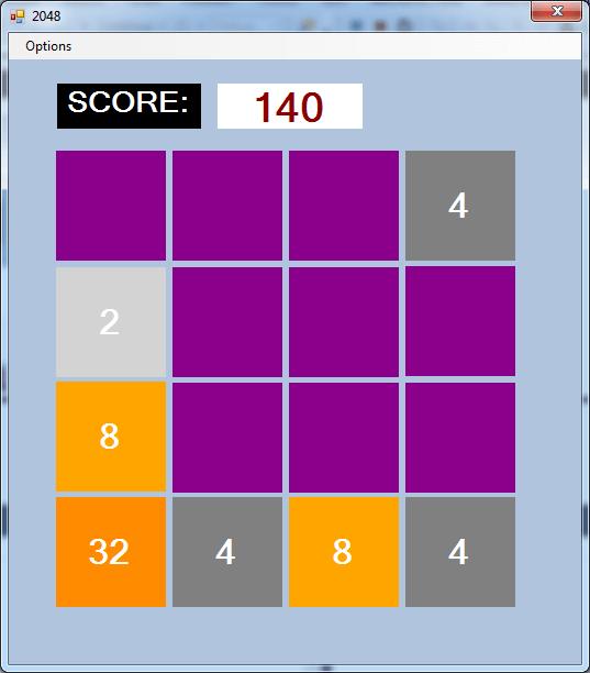 2048 در سی شارپ