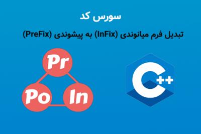 تبدیل فرم میانوندی (InFix) به پسوندی (PreFix) در سی پلاس پلاس ++C