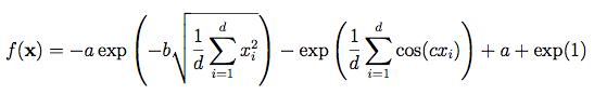 فرمول ACKLEY FUNCTION