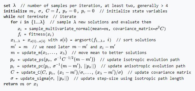 الگوریتم CMAES در متلب