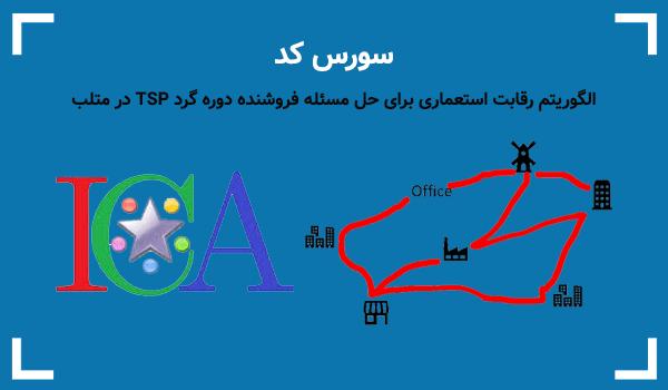 الگوریتم رقابت استعماری برای حل مسئله فروشنده دوره گرد TSP در متلب