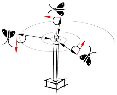 حرکت مارپیچی پروانه