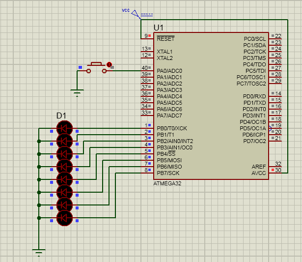 رقص نور میکرو کنترلر AVR