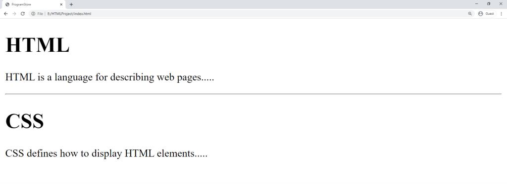 آموزش HTML تگ hr