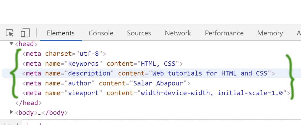 آموزش HTML متا تگ ها