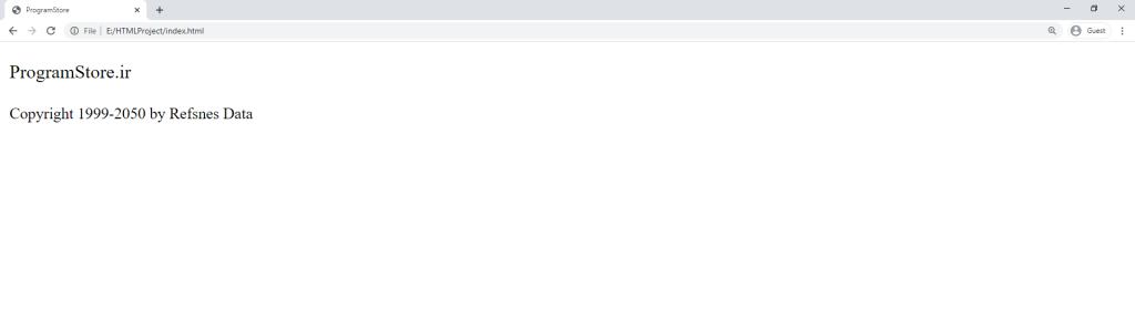 آموزش HTML تگ small
