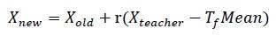 فرمول فاز معلم در الگوریتم TLBO