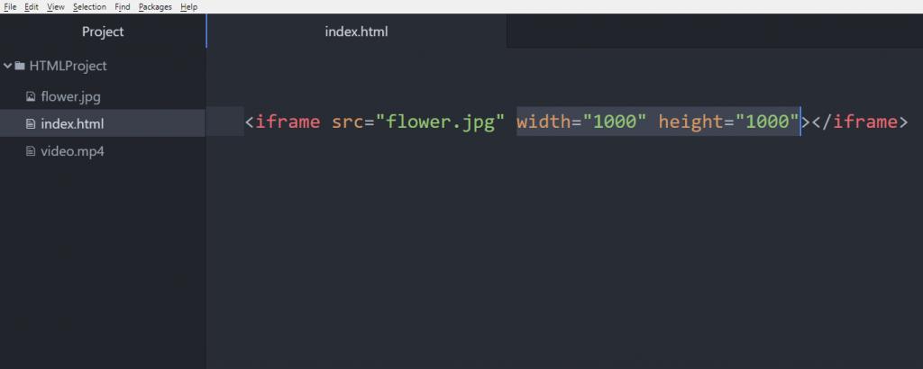 آموزش HTML طول و عرض iframe