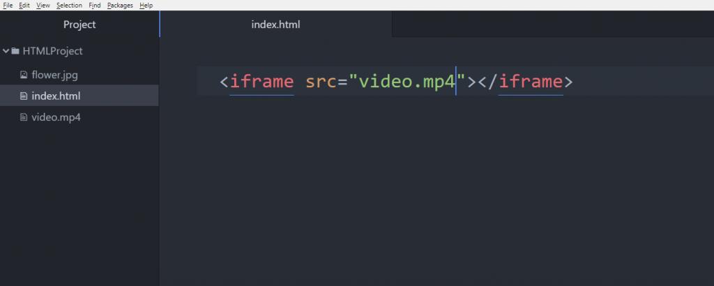 آموزش HTML تگ iframe برای ویدئو