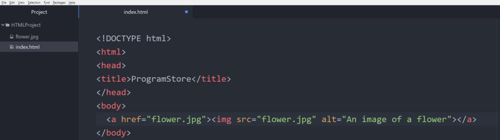 آموزش HTML تگ img در داخل تگ a