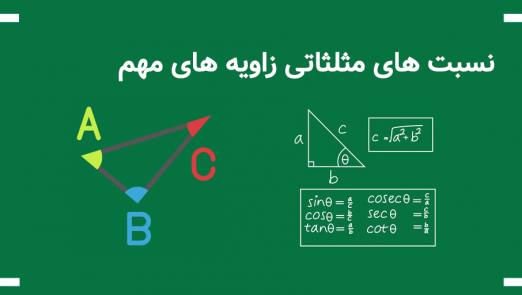 نسبت های مثلثاتی زاویه های مهم