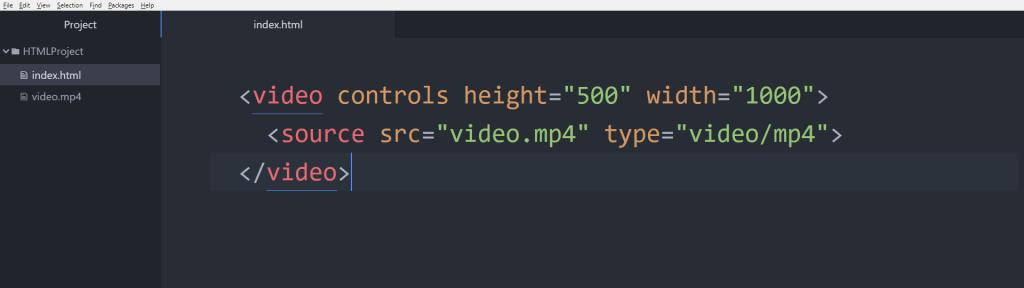 آموزش HTML تنظیم طول و عرض تگ video