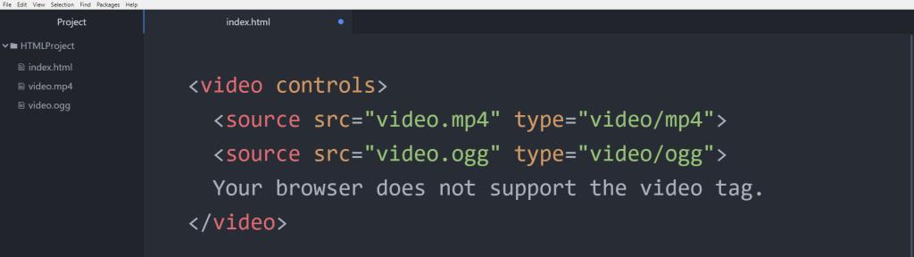 آموزش HTML پشتیبانی در تگ video