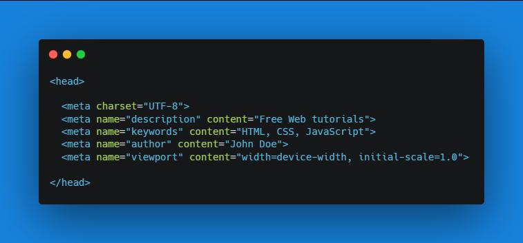 جای تگ متا تگ در کدهای html
