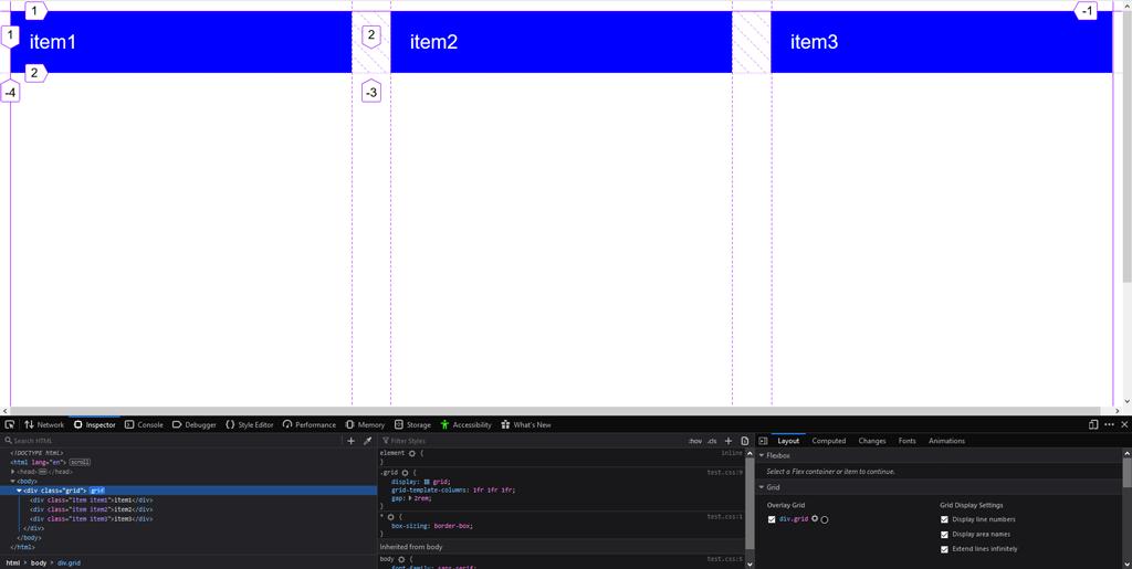 دستور grid-template-columns در css و ایجاد 3 ستون با استفاده از fr