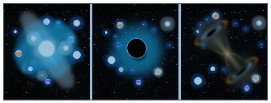 الگوریتم MVO نمایش سفید چاله سیاه چاله کرم چاله