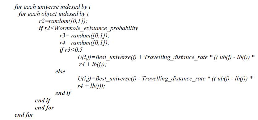 شبه کد کرم چاله
