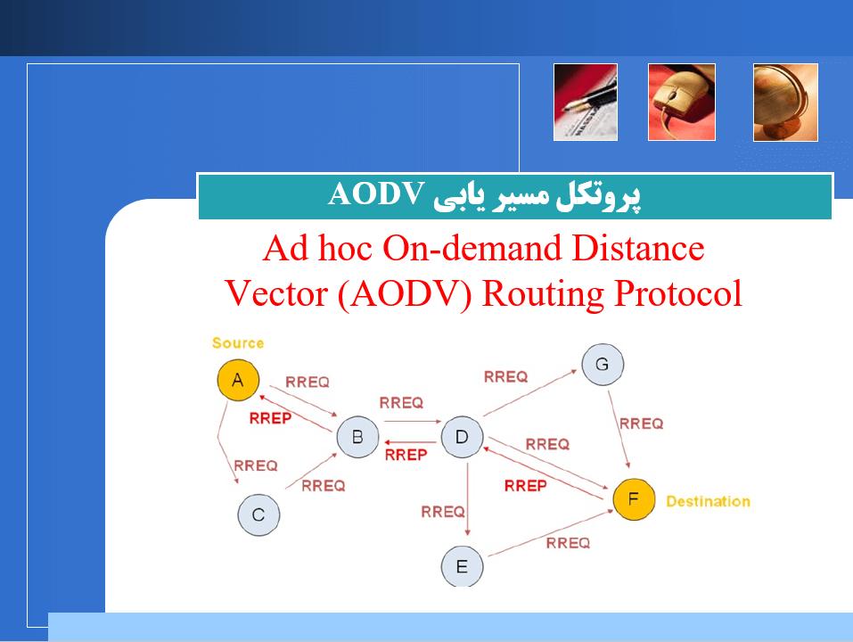پاورپوینت پروتکل مسیریابی AODV