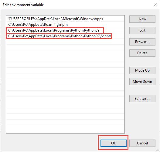 اضافه کردن path در ویندوز 10