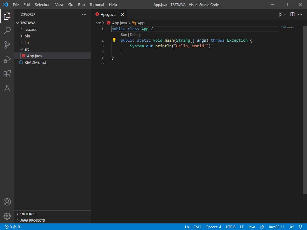 برنامه نویسی جاوا با VS code