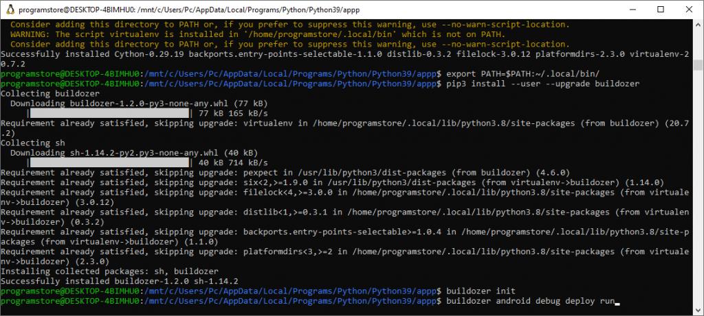 Buildozer by Ubuntu Shell 10