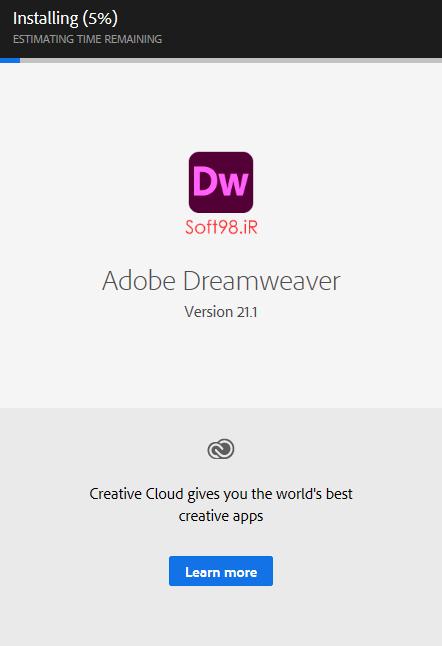 نصب نرم افزار دریم ویور Dreamweaver